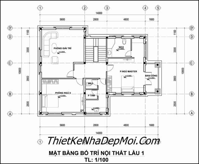 Mat bang biet thu mai thai 11x15