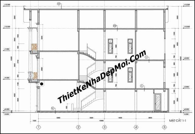 Bản vẽ xây dựng nhà phố