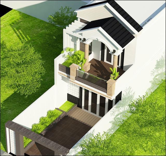 Bản vẽ thiết kế nhà 2 tầng 5x14m