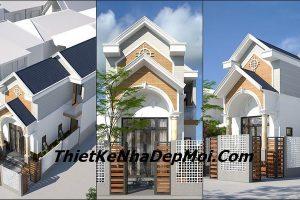 Thiết kế nhà 1 tầng 5x15m