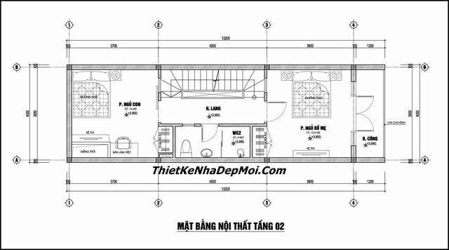 Mat bang nha pho 4x12m