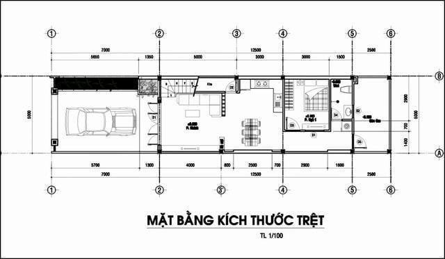 Thiết kế nhà 70m2 có phòng ngủ