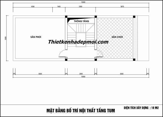 Mat bang nha ong 75m2 tang tum