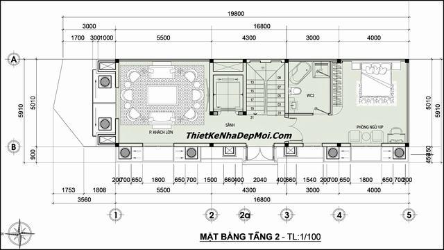 Mat bang nha 6x20m tang 2