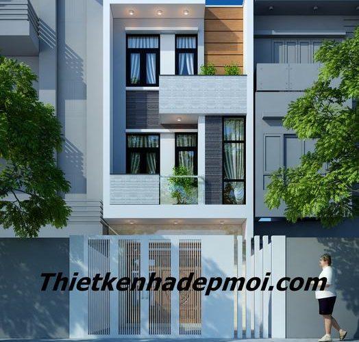 Thiết kế nhà 2 tầng 5x20