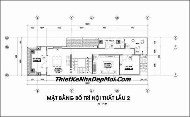 Mat bang nha pho 3 tang 6x20m