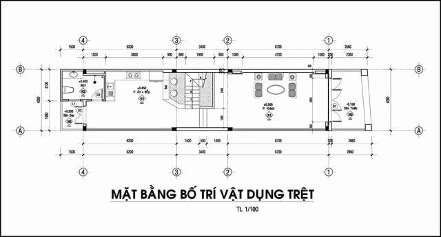 mat bang nha pho 4x22m