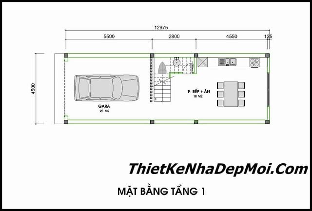 Mat bang nha pho 4.5m