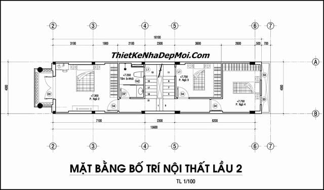 Mat bang nha pho 4x16m