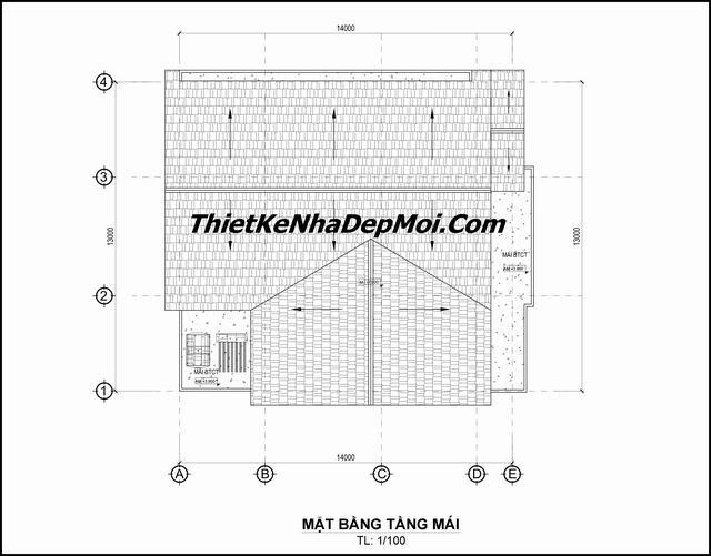 Bản vẽ xây nhà cấp 4 mái thái 4 phòng ngủ 2019