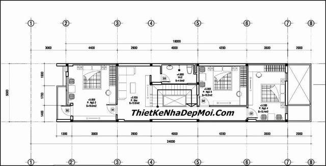 Bản vẽ nhà có tầng hầm 5x20