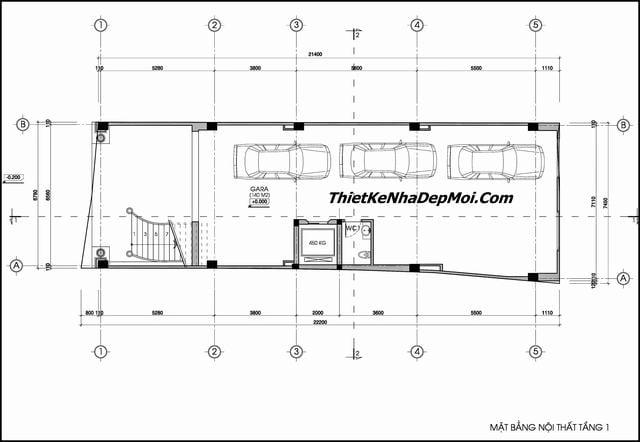 Bản vẽ kiến trúc khách sạn tân cổ điển