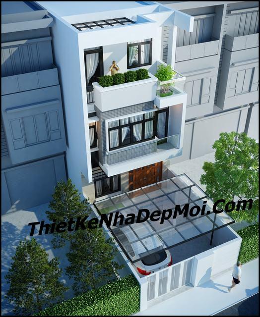 Mặt tiền nhà phố 6m 3 tầng