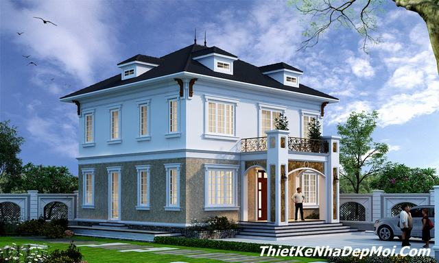 Nhà 2 tầng mặt tiền 12m view nghiêng
