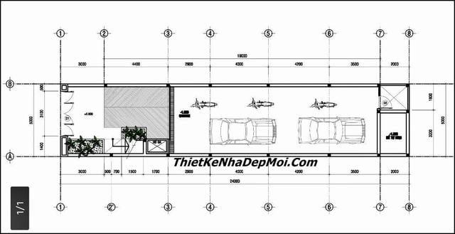 Thiết kế nhà 5x20 có tầng bán hầm
