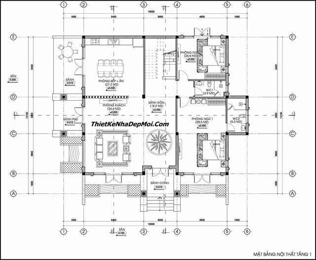 Thiết kế nhà vườn 1.5 tầng đẹp mái thái