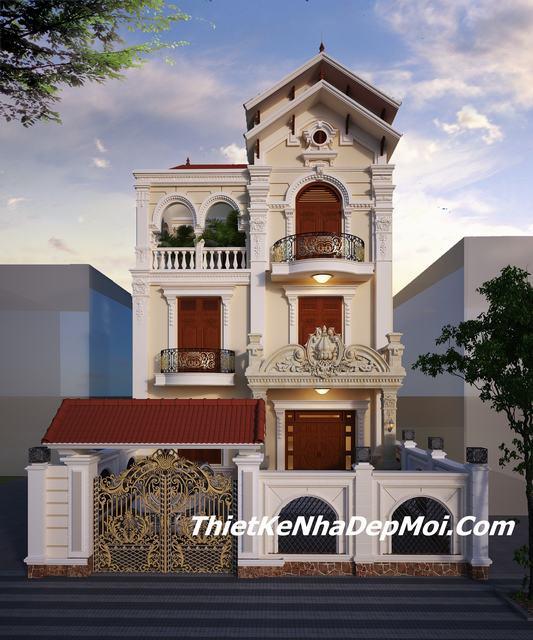 Biệt thự thự 3 tầng mặt tiền 8m