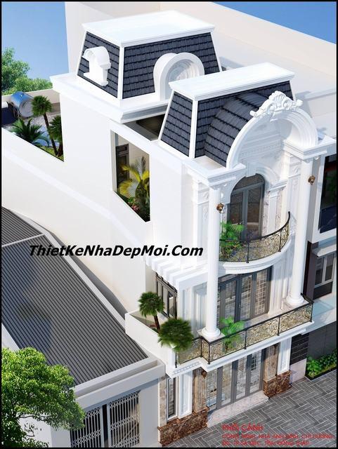 nhà 1 trệt 2 lầu đẹp mặt tiền 6.5m tại Đồng Tháp