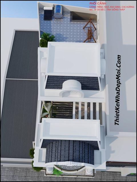 Bản vẽ thiết kế nhà ngang 6.5m mặt phố 3 tầng