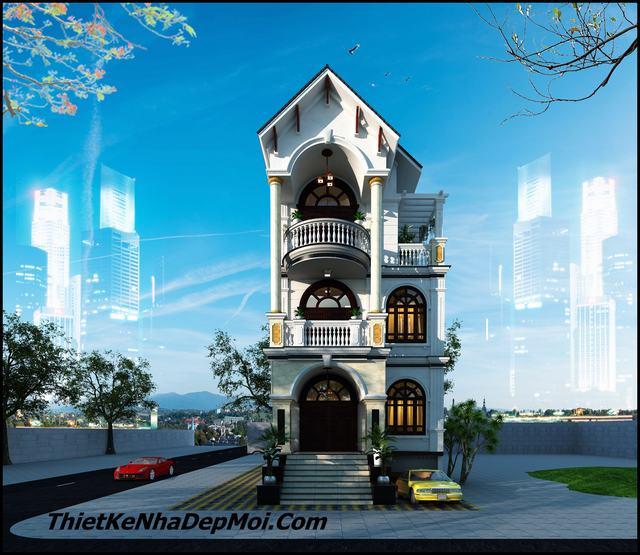 Mẫu nhà 3 tầng mặt tiền 6.5m
