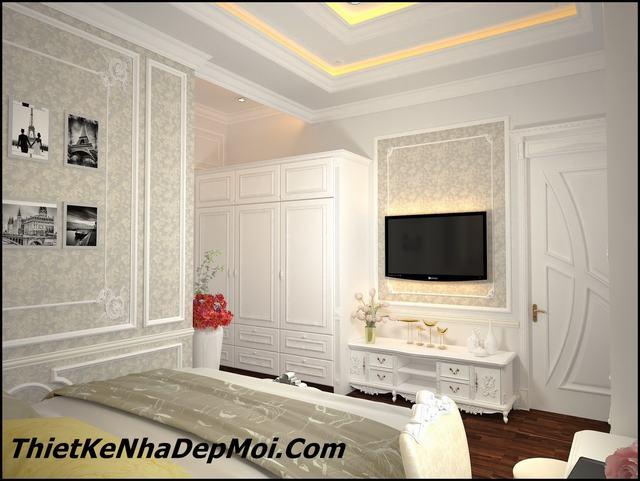 phòng ngủ căn hộ cổ điển đẹp 100m2