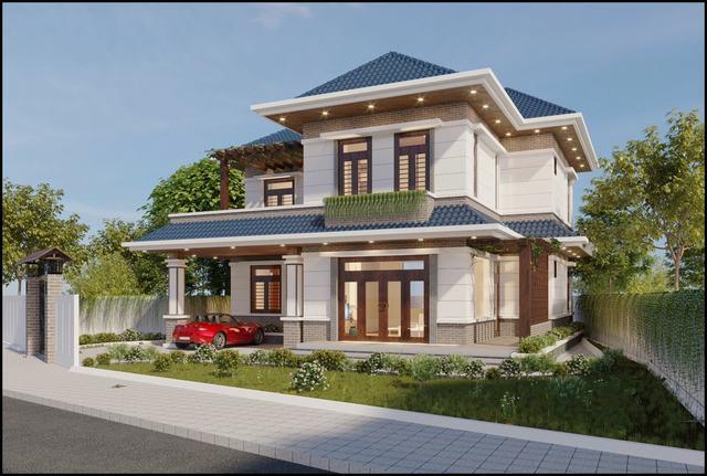 Thiết kế nhà 2 tầng 140m2