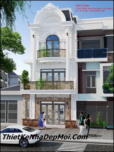 Mẫu thiết kế nhà phố mặt tiền 6.5m đẹp