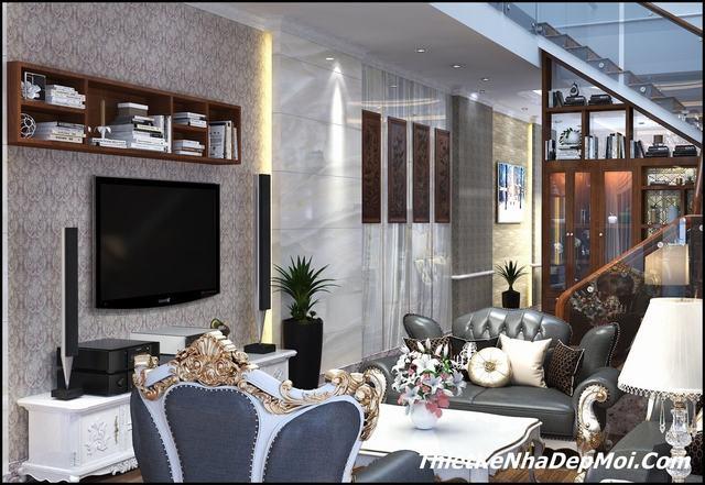 thiết kế phòng khách nhà rộng 6m