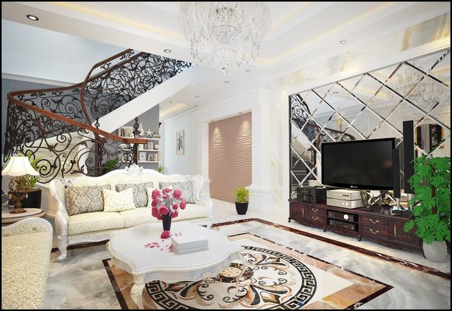 Thiết kế phòng khách căn hộ 100m2