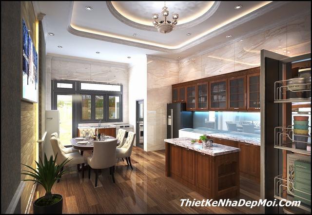 nội thất nhà đẹp 3 tầng mặt phố 6m