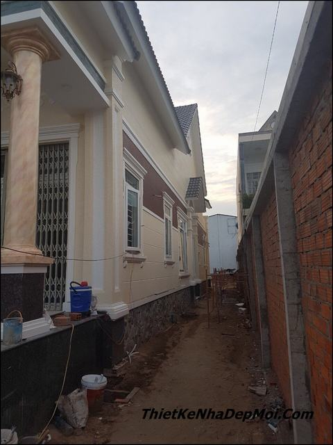 mẫu nhà cấp 4 ngang 10m, Mẫu nhà cấp 4 ngang 10m đẹp mặt tiền rộng 200m2 4 phòng ngủ, Công ty thiết kế xây dựng Nhà Đẹp Mới, Công ty thiết kế xây dựng Nhà Đẹp Mới