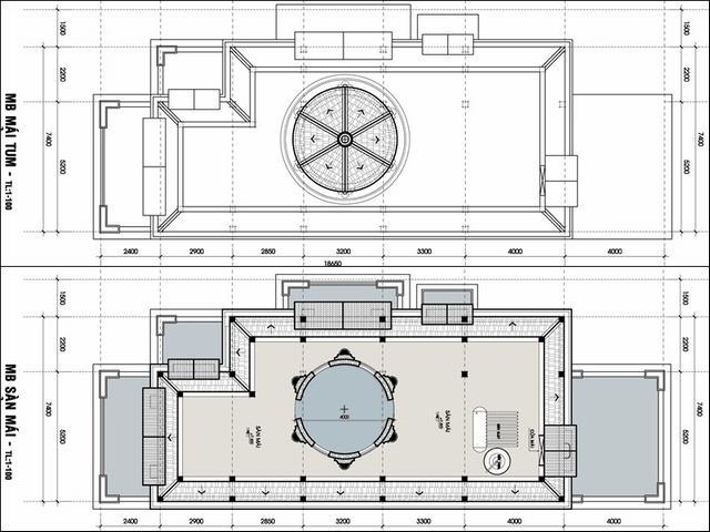 Bản vẽ file cad biệt thự 2 tầng đẹp mặt tiền 8m