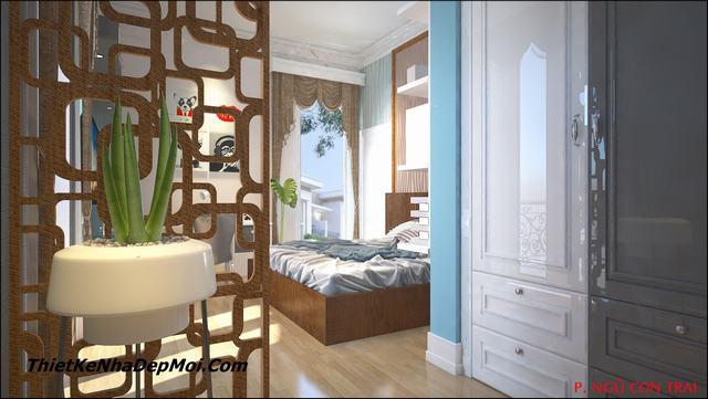 thiết kế phòng ngủ 24m2
