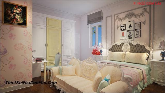 mẫu nội thất phòng ngủ cổ điển đẹp lâu đài