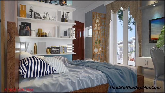 trang trí nội thất phòng ngủ đẹp con trai