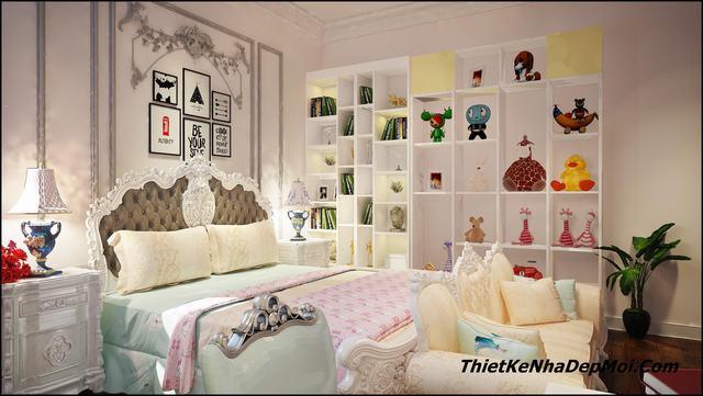 mẫu phòng ngủ cổ điển cho con gái