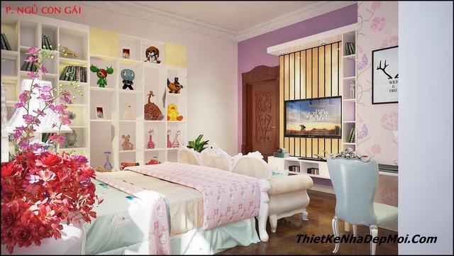 nội thất bên trong phòng ngủ lâu đài cổ điển