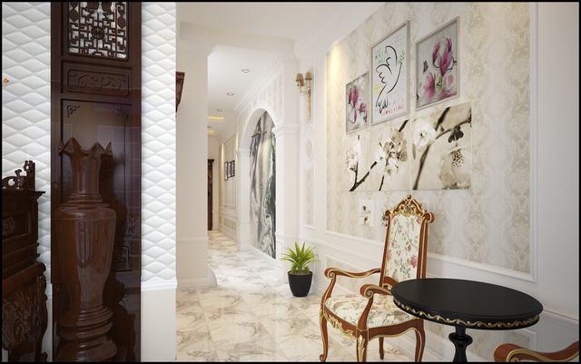 nội thất nhà phố rộng 6.5m anh Định