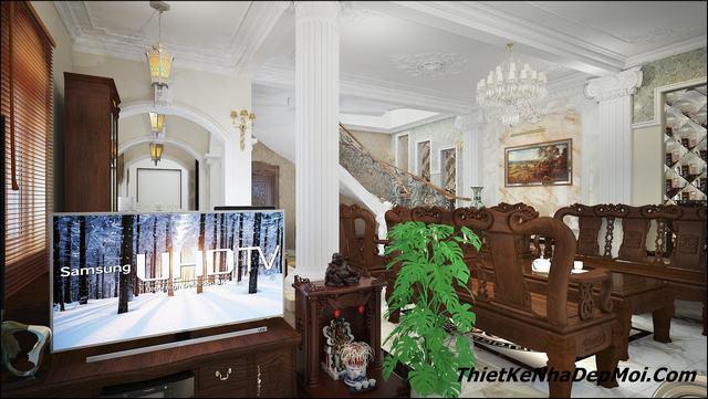 nội thất lâu đài biệt thự cổ điển đẹp 2020