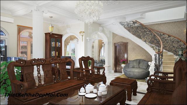 Thiết kế nội thất lâu đài giá rẻ