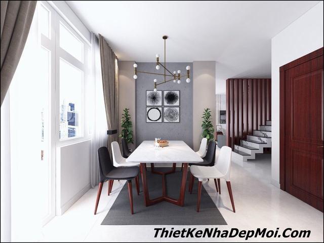 Thiết kế nội thất phòng ăn biệt thự nhỏ