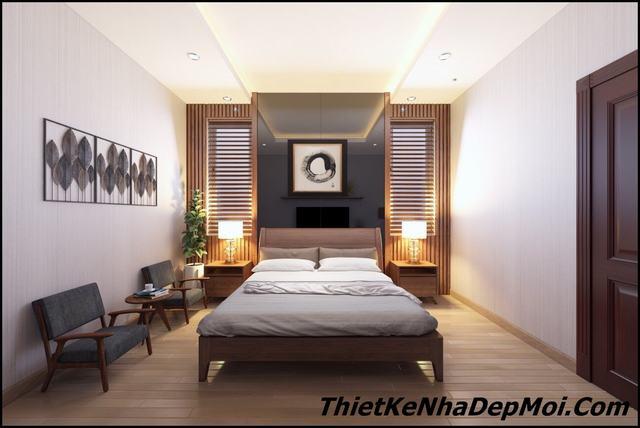 Thiết kế nội thất phòng ngủ rộng 18m2