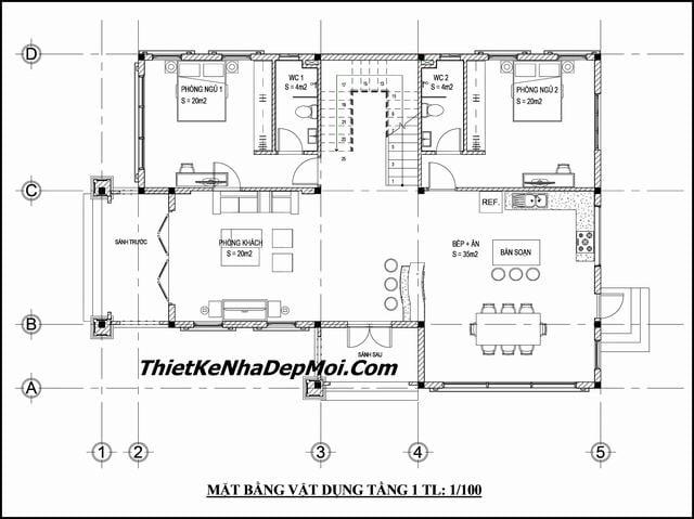 Bản vẽ thiết kế biệt thự 11x15m