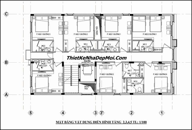 Bản vẽ thiết kế khách sạn chuyên nghiệp 2019