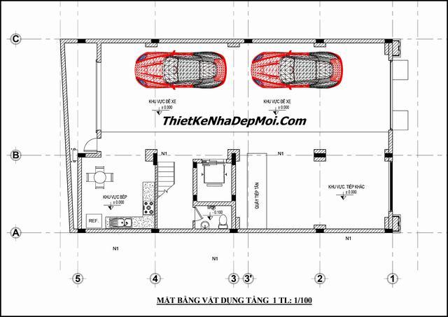 Bản vẽ thiết kế khách sạn 6 tầng 10x16m