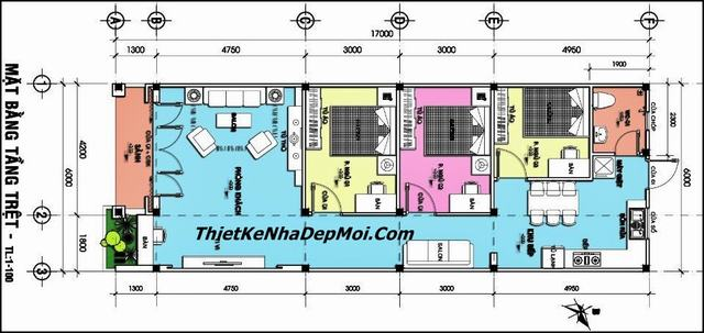 Mẫu nhà cấp 4 đơn giản 3 phòng ngủ