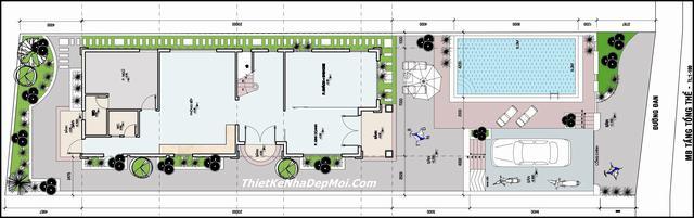 Bản vẽ thiết kế nhà rộng 10m