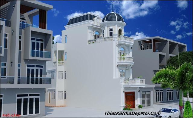 Nhà đẹp 3 tầng mặt tiền 5m