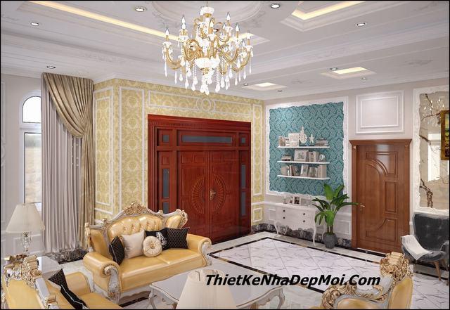 Trang trí phòng khách hiện đại 2021