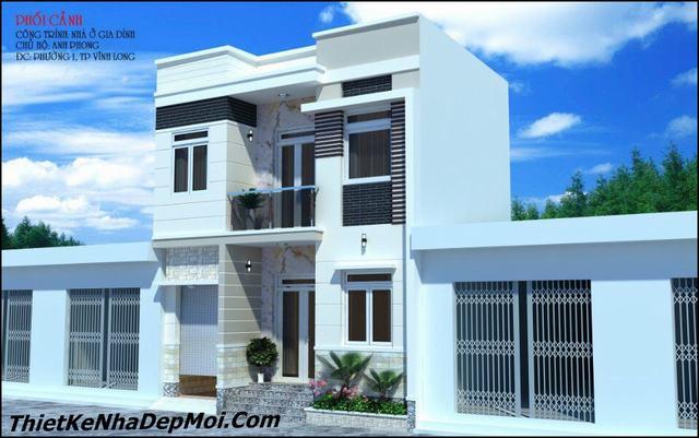 Mẫu thiết kế nhà vuông 8x7m